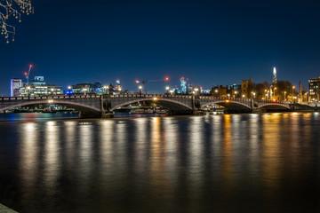 Lambeth Bridge in the night, London