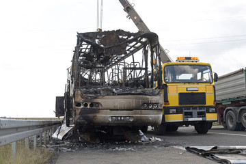 Bus Cabin Fire Damage