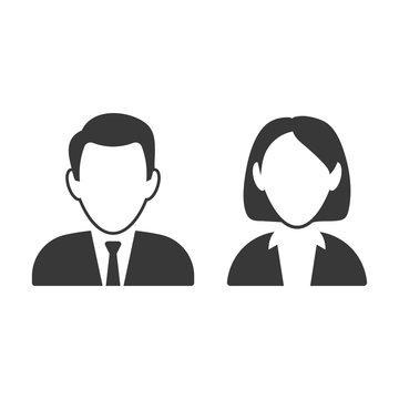Male and female avatar design. Vector.