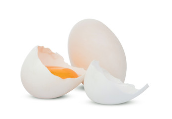 Duck egg isolated on white background.