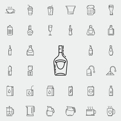 bottle of alcohol dusk icon. Drinks & Beverages icons universal set for web and mobile