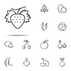 Strawberry dusk style icon. Vegetables icons universal set for web and mobile