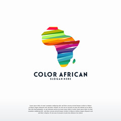 Abstract Colorful African Map logo template