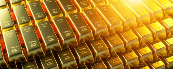 Gold bar close up shot. wealth business success concept..