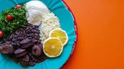 Feijoada, traditional Brazilian food
