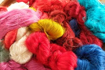 Colorful  Thai silk thread