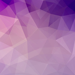 Background made of pink, purple, violet triangles. Square composition with geometric shapes. Eps 10
