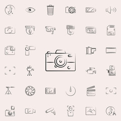 simple camera outine icon. Photo and camera icons universal set for web and mobile