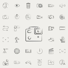 camcorder outine icon. Photo and camera icons universal set for web and mobile