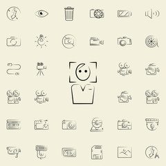 man in photo frame outine icon. Photo and camera icons universal set for web and mobile