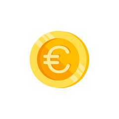 Euro, coin, money color icon. Element of color finance signs. Premium quality graphic design icon. Signs and symbols collection icon for websites, web design