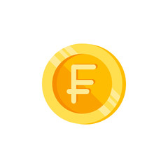 Swiss, coin, money color icon. Element of color finance signs. Premium quality graphic design icon. Signs and symbols collection icon for websites, web design