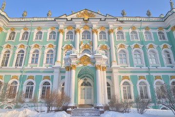 View of Winter Palace of Hermitage Museum.