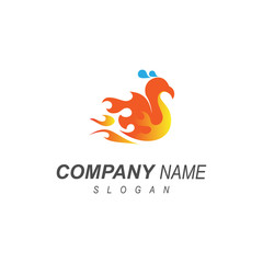 Phoenix Logo, Fire Bird Logo Design