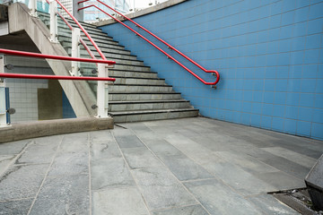 staircase outside an building
