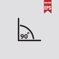 Angle of 90 degrees icon.Vector illustration.