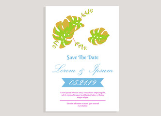 weeding invitation 10, romantic style with rose flower background