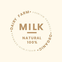 Milk bottle branding illustration