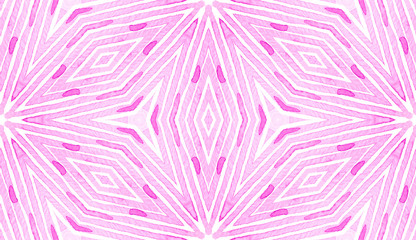 Pink red Geometric Watercolor. Delicate Seamless P