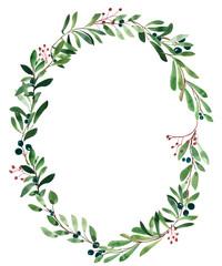 Botanic frame illustration