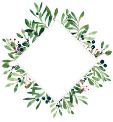 Botanic frame illustration