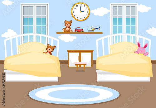 Interior Kids Bedroom Background Stock Image And Royalty Free