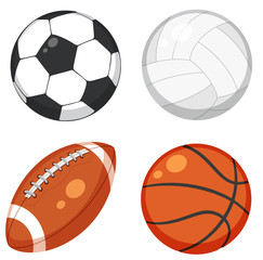 Set of ball on white background