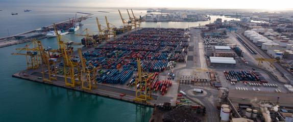 Fond de hotte en verre imprimé Port Port of Barcelona
