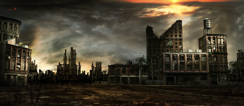 Destroyed City Photos Royalty Free Images Graphics Vectors Videos Adobe Stock