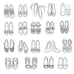 Lady's shoes illustration,