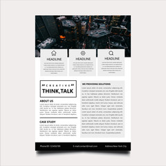 Modern business flyer template for company project