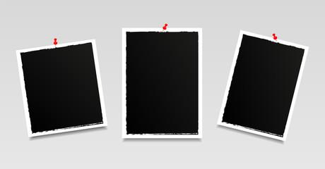 Modern photo frames. Vintage. Vector illustration.