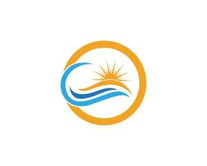 Wave Ocean Logo Template