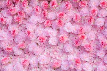 Pink roses background  / Pink roses wallpaper