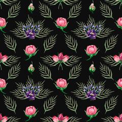 watercolor painted flowers
