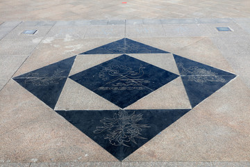 phoenix carved in marble ground, tangshan world horticultural exposition, China
