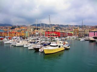 Fond de hotte en verre imprimé Port Genoa, Italy