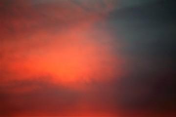 An Image of a sunset, sky