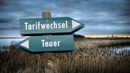 Fototapete - Schild 382 - Tarifwechsel