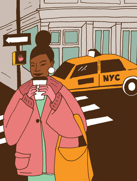 City Strolling with Hot Cocoa