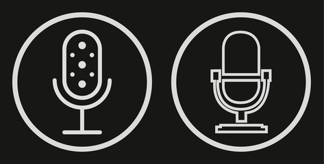 Microphone Icon vector flat design. Vector illustration for your graphic design