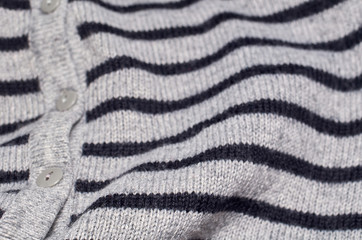 Macro photo of fabric pattern, close up of textile clothing with shallow depth of field