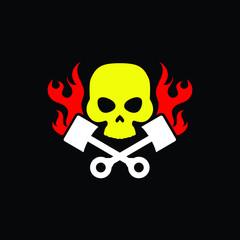 Creative Minimal Skull Logo Design in Vector Format , Skull Monogram