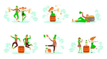 Set of Saint Patrick's Day concept.