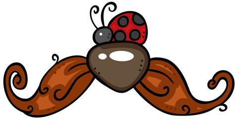 Ladybug on moustache