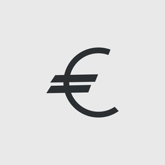 euro currency vector icon