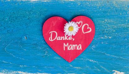 Danke Mama Karte Hintergrund