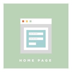 HOME PAGE ICON CONCEPT