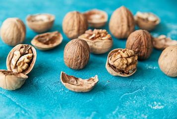 walnut, nuts, shells, nut kernels