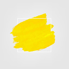Yellow Banner With Paint